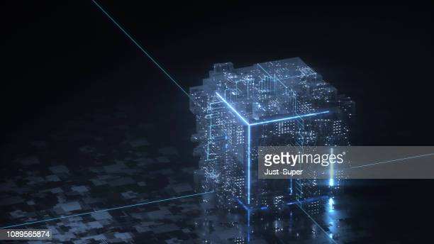 blockchain technology concept - financial technology stock pictures, royalty-free photos & images