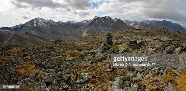 Blockfield on the summit of Mont Iverta.