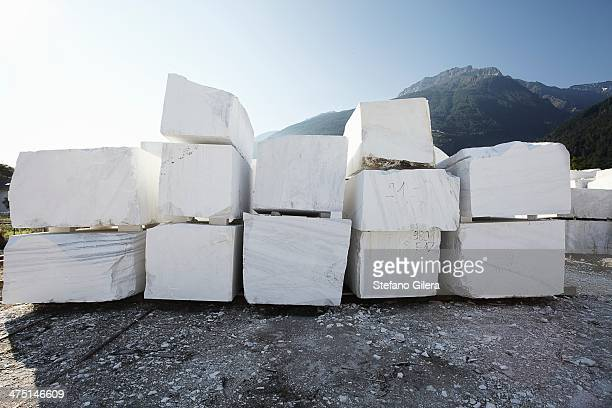 Blocks of marble from quarry