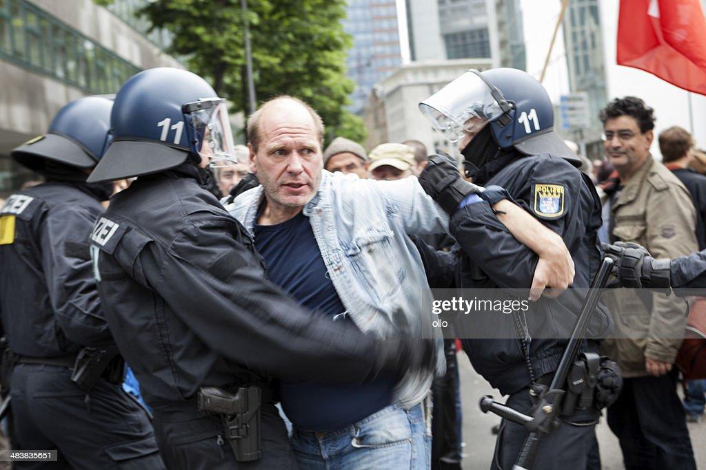 Blockupy 2013, Frankfurt : Stock-Foto