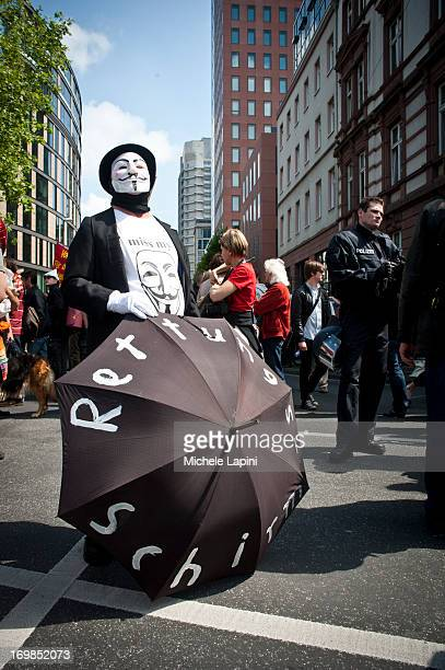 CONTENT] Blockupy Demonstration against the austerity and the ECB policies in Frankfurt