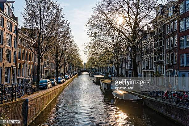 bloemgracht canal in amsterdam, netherlands - ignatius tan stock photos and pictures
