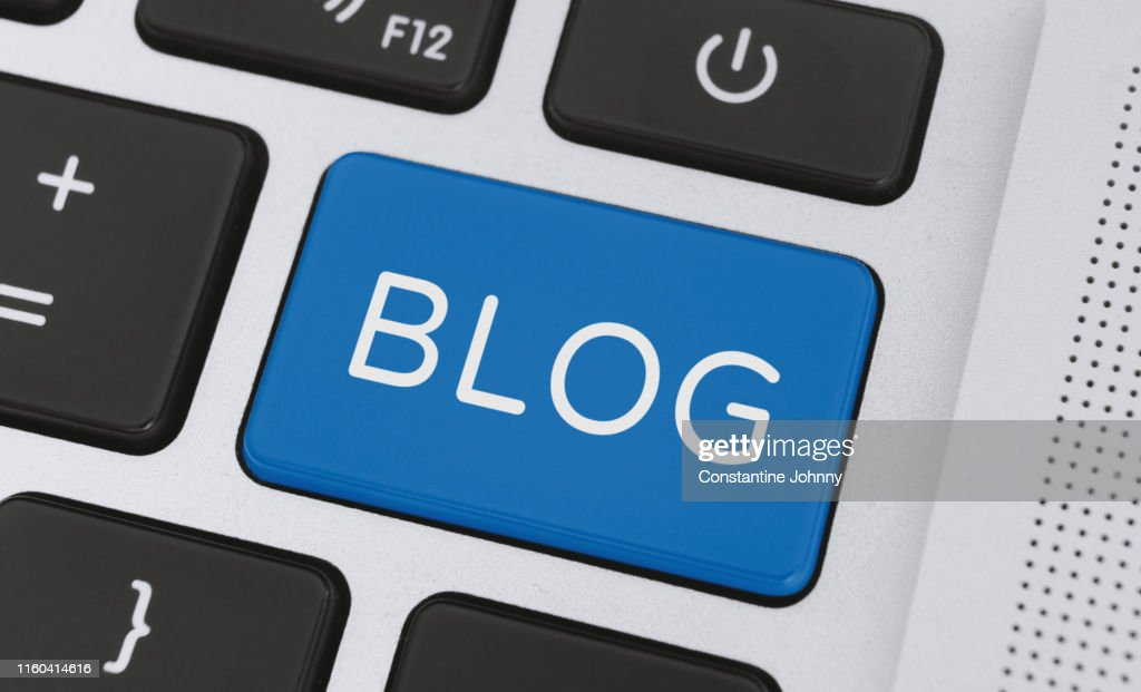 Blog Word on Computer Keyboard Keys : Stock Photo