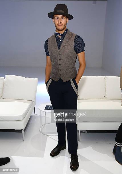 Blogger Adam Gallagher attends Nautica - Presentation - New York Fashion Week: Men's S/S 2016 at Skylight Clarkson Sq on July 15, 2015 in New York...