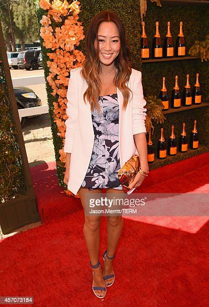 Blogger Aimee Song attends the FifthAnnual Veuve Clicquot Polo Classic at Will Rogers State Historic Park on October 11 2014 in Pacific Palisades...