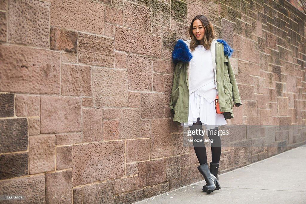 Street Style - Day 2 - New York Fashion Week Fall 2015 : News Photo