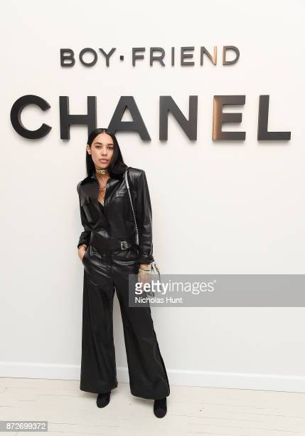 Blogger Aleali May wearing CHANEL attends as CHANEL celebrates the launch of the Coco Club a BoyFriend Watch event at The Wing Soho on November 10...