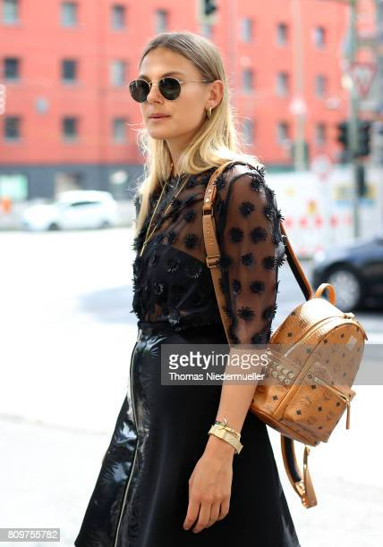 Blogger Alessa Winter poses during the Mercedes-Benz Fashion Week Berlin Spring/Summer 2018 at Kaufhaus Jandorf on July 6, 2017 in Berlin, Germany.