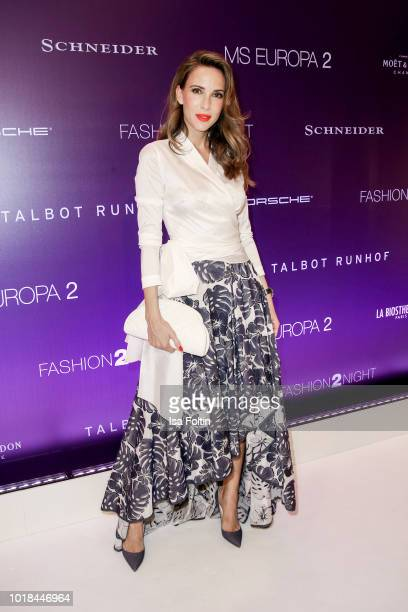 Blogger Alexandra Lapp during the FASHION2NIGHT event on board the EUROPA 2 on August 17, 2018 in Hamburg, Germany.
