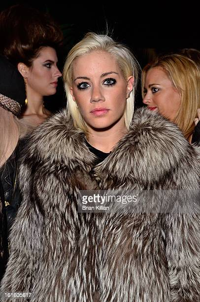 Blogger Amanda Leigh Dunn attends the Scandinavian Showcase Launch Party during Fall 2013 MercedesBenz Fashion Week at No 8 on February 12 2013 in...