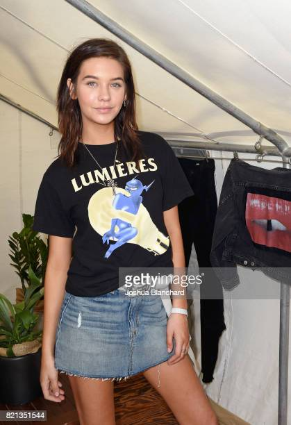 Blogger Amanda Steele attends the Hudson Jeans FYF Fest Style Lounge at Exposition Park on July 23 2017 in Los Angeles California