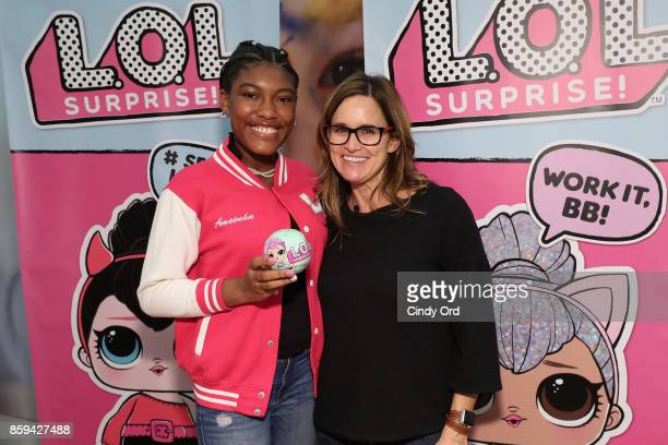 Blogger Ameenah Lee and Youtuber Amy Jo attends the launch of the LOL Surprise Unboxing Video Booth and LOL Surprise Pets hosted by Hilaria Baldwin...