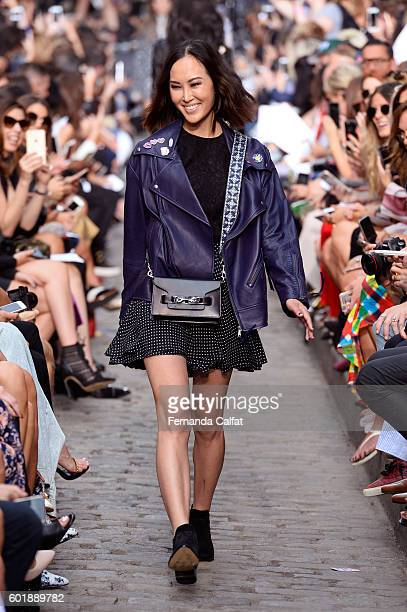Blogger and influencer Chriselle Lim walks the runway at the Rebecca Minkoff fashion show during New York Fashion Week The Shows September 2016 at...