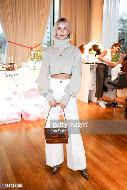 Blogger and influencer Lisa Hahnbueck attends the InStyle Lounge Opening Brunch/Open House at Cafe Moskau on January 16, 2019 in Berlin, Germany.