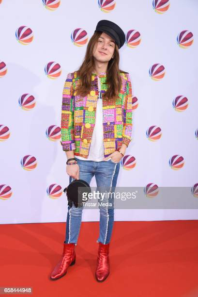 Blogger and influencer Riccardo Simonetti attends the photo call for the television film 'Nackt Das Netz vergisst nie' at Astor Film Lounge on March...