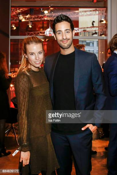 Blogger and Influencer Sami Slimani and guest attend the Audi Lounge Night Audi At The 67th Berlinale International Film Festival on February 9 2017...