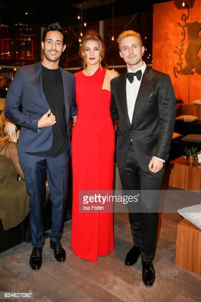 Blogger and Influencer Sami Slimani model Stefanie Giesinger and her boyfriend Marcus Butler attend the Audi Lounge Night Audi At The 67th Berlinale...