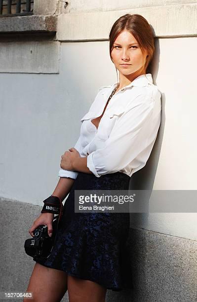 Blogger Angelica Ardasheva attends the Blumarine show during Milan Fashion Week Womenswear Spring/Summer 2013 on September 22 2012 in Milan Italy