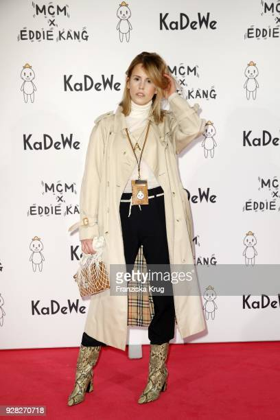 Blogger AnnKathrin Grebner during the MCM X Eddie Kang launch event at KaDeWe on March 6 2018 in Berlin Germany
