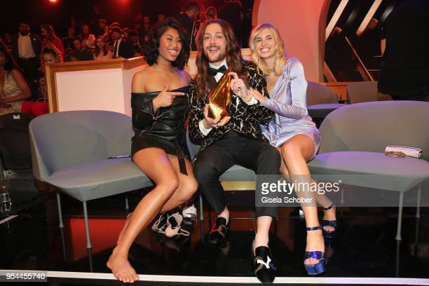 Blogger Anuthida Ploypetch @ anuthida Riccardo Simonetti and Xenia Adonts @ xeniaoverdose during the 2nd ABOUT YOU Awards 2018 at Bavaria Studios on...