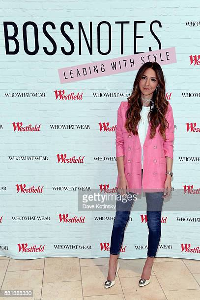 Blogger Arielle Charnas attends the Westfield x Who What Wear Presents Boss Notes at Westfield Garden State Plaza Mall on May 14 2016 in Paramus New...