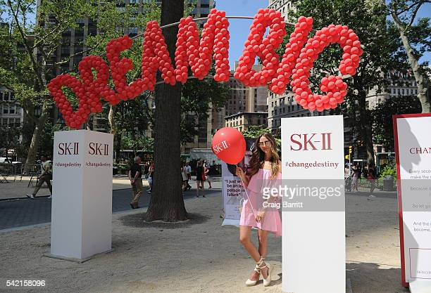 Blogger Arielle Charnas of Something Navy attends SKII #ChangeDestiny Dream Again at Madison Square Park on June 21 2016 in New York City