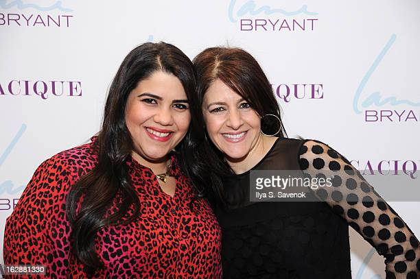 Blogger Ashley Falcon and SVP & Chief Marketing Officer Liz Crystal attend Carnie Wilson & Jay Manuel Celebrate Lane Bryant's NYC Flagship on...