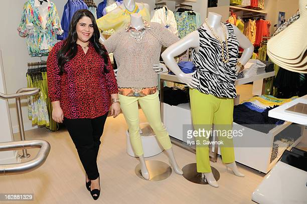 Blogger Ashley Falcon attends Carnie Wilson & Jay Manuel Celebrate Lane Bryant's NYC Flagship on February 28, 2013 in New York City.
