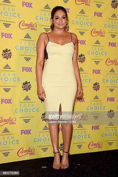 Blogger Bethany Mota winner of the Choice Web Star Female poses in the press room during the Teen Choice Awards 2015 at the USC Galen Center on...
