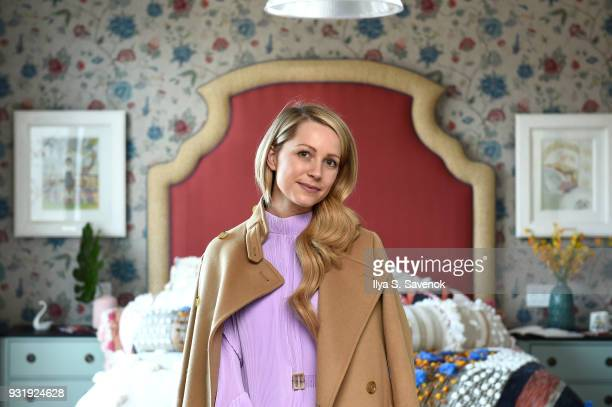 Blogger Blair Eadie of Atlantic Pacific poses during Nordstrom and Anthropologie partner to Introduce Anthropologie Home In Nordstrom stores and...