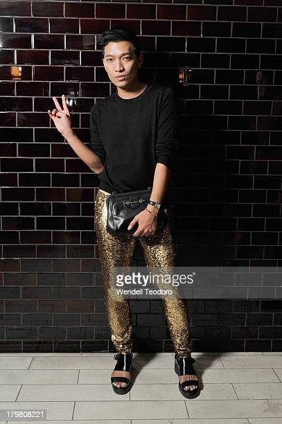 Blogger Bryan Boy attends the Jason Wu after party during Spring 2014 MercedesBenz Fashion Week at The Electric Room on September 6 2013 in New York...