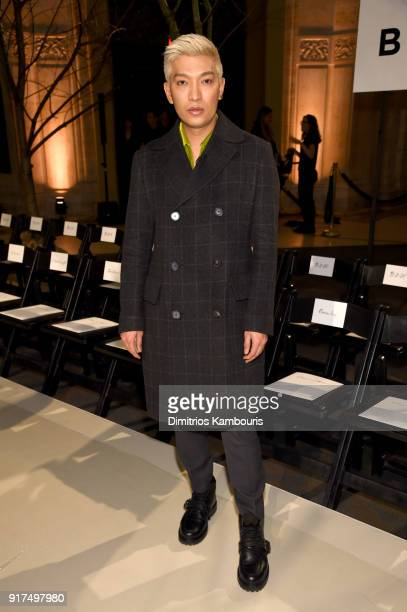 Blogger Bryanboy attends the Oscar De La Renta fashion show during New York Fashion Week The Shows at The Cunard Building on February 12 2018 in New...