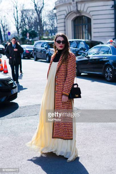 Blogger Carlotta Rubaltelli attends Paris Fashion Week Womenswear Fall/Winter 2018/2019 on March 3 2018 in Paris France