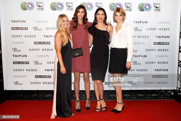 Blogger Carolin Faerber models Alisar Ailabouni Rebecca Mir and Luisa Hartema attend the Gerry Weber Open Fashion Night 2017 during the Gerry Weber...