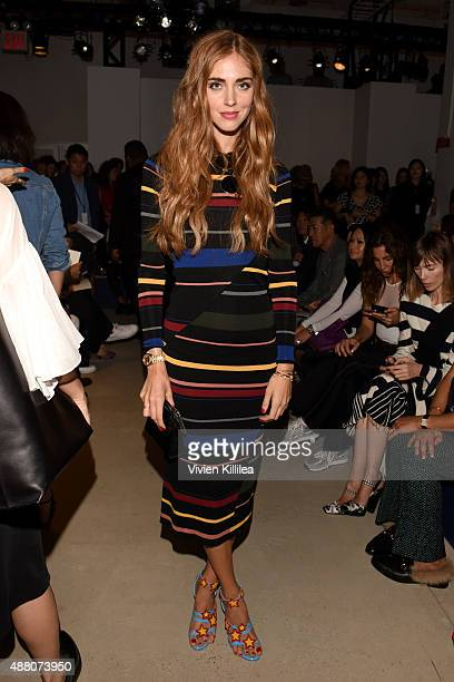 Blogger Chiara Ferragni attends Derek Lam Spring 2016 during New York Fashion Week The Shows at The Gallery Skylight at Clarkson Sq on September 13...