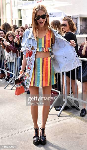 Blogger Chiara Ferragni seen around Spring 2016 New York Fashion Week The Shows Day 4 on September 14 2015 in New York City