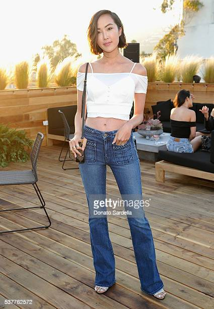 Blogger Chriselle Lim attends House of Harlow 1960 x REVOLVE on June 2, 2016 in Los Angeles, California.