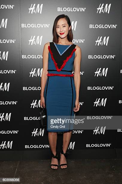 Blogger Chriselle Lim attends the Blog Lovin' Awards at Industria Superstudio on September 12 2016 in New York City