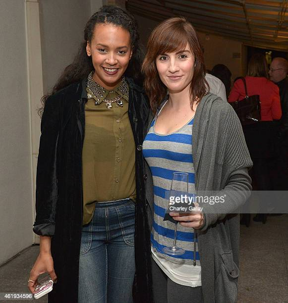 Blogger Corbin Reed and actress Alison Haislip attend Freds at Barneys New York in Beverly Hills hosts a preview tasting of The Sunset Menu at...