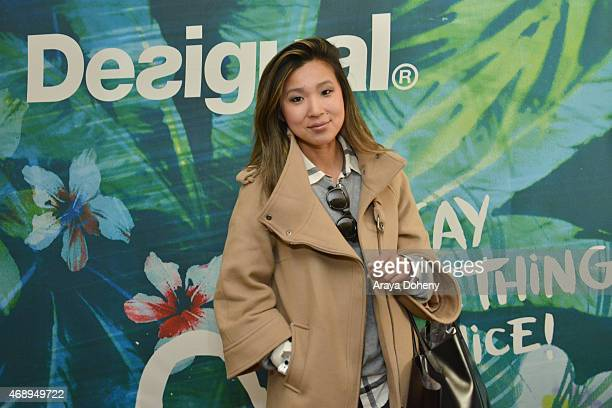 Blogger Crystal Kong attends Kari Feinstein's Music Festival Style Lounge at Sunset Marquis Hotel Villas on April 8 2015 in West Hollywood California