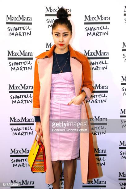 Blogger Denni Elias attends the Max Mara 'Prism in Motion' Eventas with the presentation of the new collection Capsule of sunglasses Max Mara...