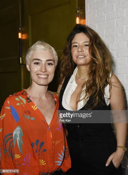 Blogger Elsa Muse and singer Chanez attend the Havaianas Loves Samba Concert Party at Alcazar on June 28 2017 in Paris France