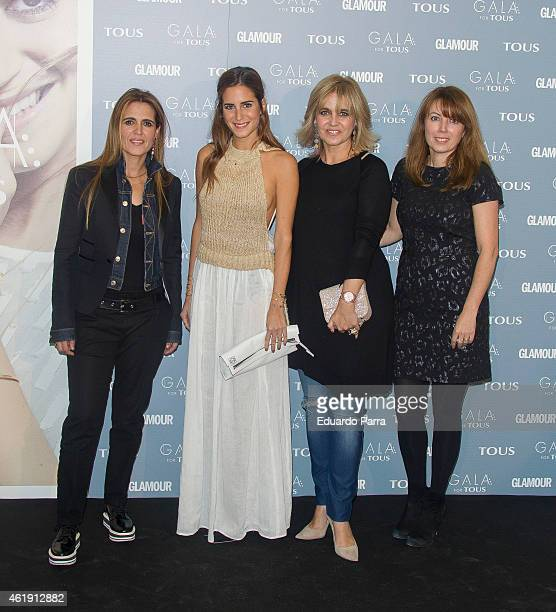 Blogger Gala Gonzalez and Rosa Tous attend 'Gala for Tous' collection party photocall at Pons Foundation on January 21, 2015 in Madrid, Spain.