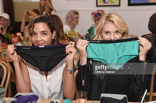 Blogger Georgie Flores and model Kayslee Collins attend MeUndies Women's Launch Seaside at MeUndies #AllOfMeUndies on May 12 2015 in Venice California
