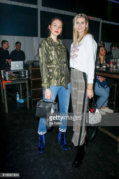 Blogger Grace Montana and blogger Kimyana Hachmann attend the Young ICONs Award in cooperation with ICONIST at SpindlerKlatt on February 14 2018 in...
