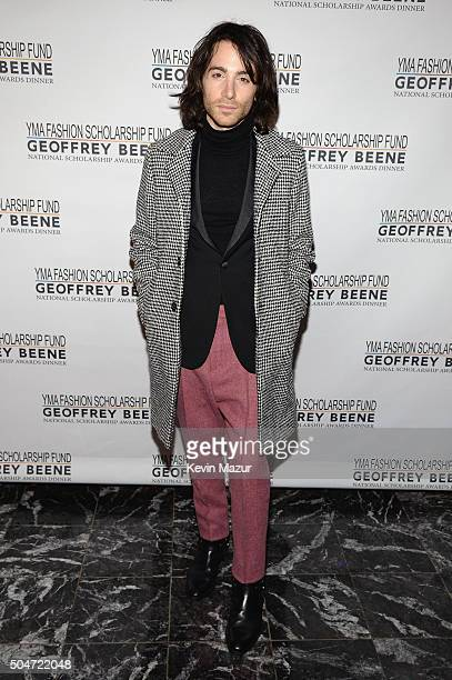 Blogger Gregory DelliCarpini Jr of Oyster Colored Velvet attends the 2016 YMA Fashion Scholarship Fund Geoffrey Beene National Scholarship Awards...