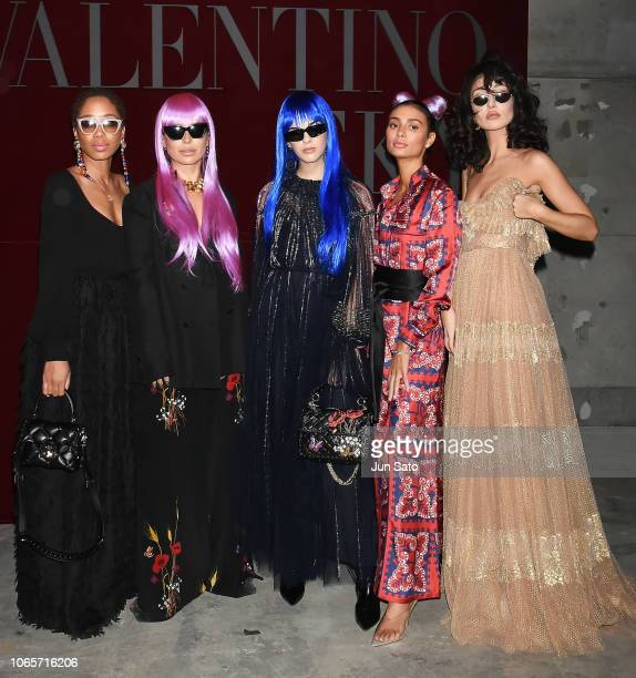Blogger guests attend the photocall for Valentino TKY 2019 Pre-Fall Collection at Terada Warehouse on November 27, 2018 in Tokyo, Japan.