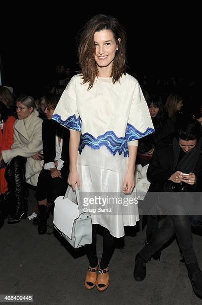 Blogger Hanneli Mustaparta attends the 31 Phillip Lim fashion show during MercedesBenz Fashion Week Fall 2014 at Skylight at Moynihan Station on...