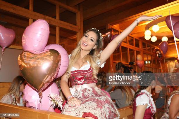 Blogger influencer Caroline Einhoff at the Madlwiesn event during the Oktoberfest at Theresienwiese on September 21 2017 in Munich Germany