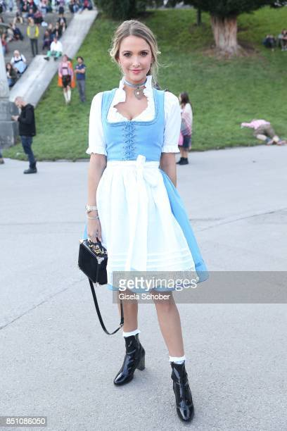 Blogger influencer Sophie Hermann stepdaughter of Uschi Glas at the 'Madlwiesn' event during the Oktoberfest at Theresienwiese on September 21 2017...